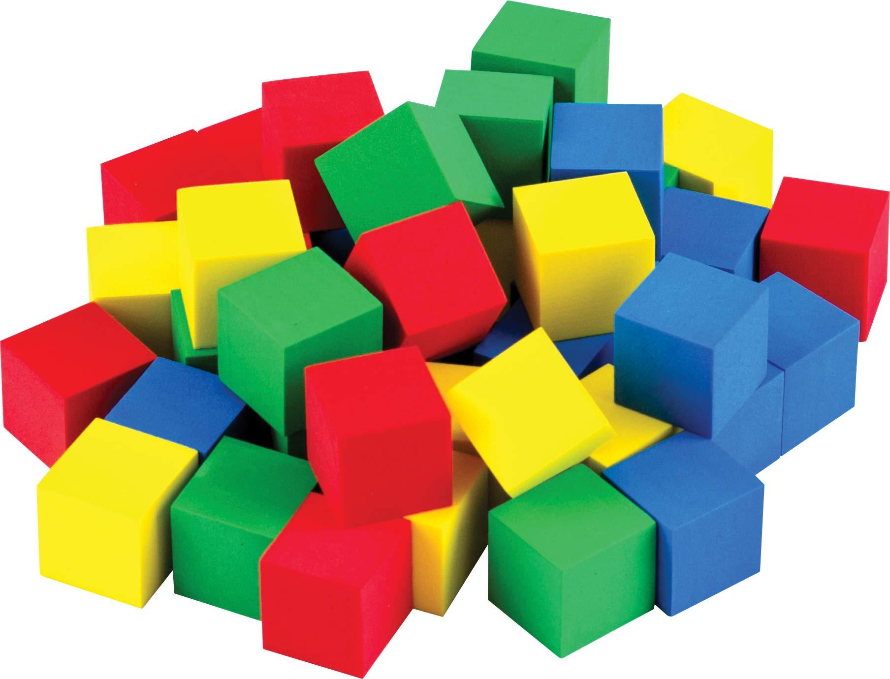 "STEM Basics: Multicolor 3/4"" Foam Cubes - 40 Count"