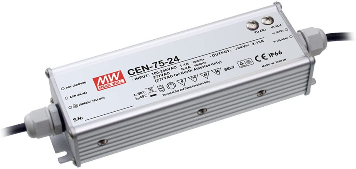 PowerNex Mean Well CEN-75-24 24V 3.15A 75.6W Single Output LED Power Supply with PFC