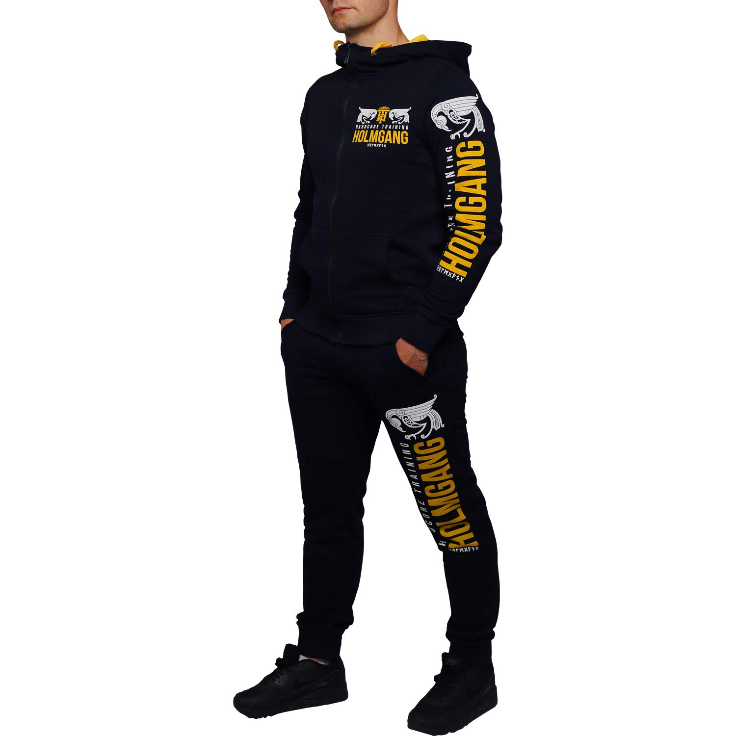 Hardcore Training Hoodie Mens Holmgang Workout Fitness Active Sportwear Capucha Sudadera Hombre