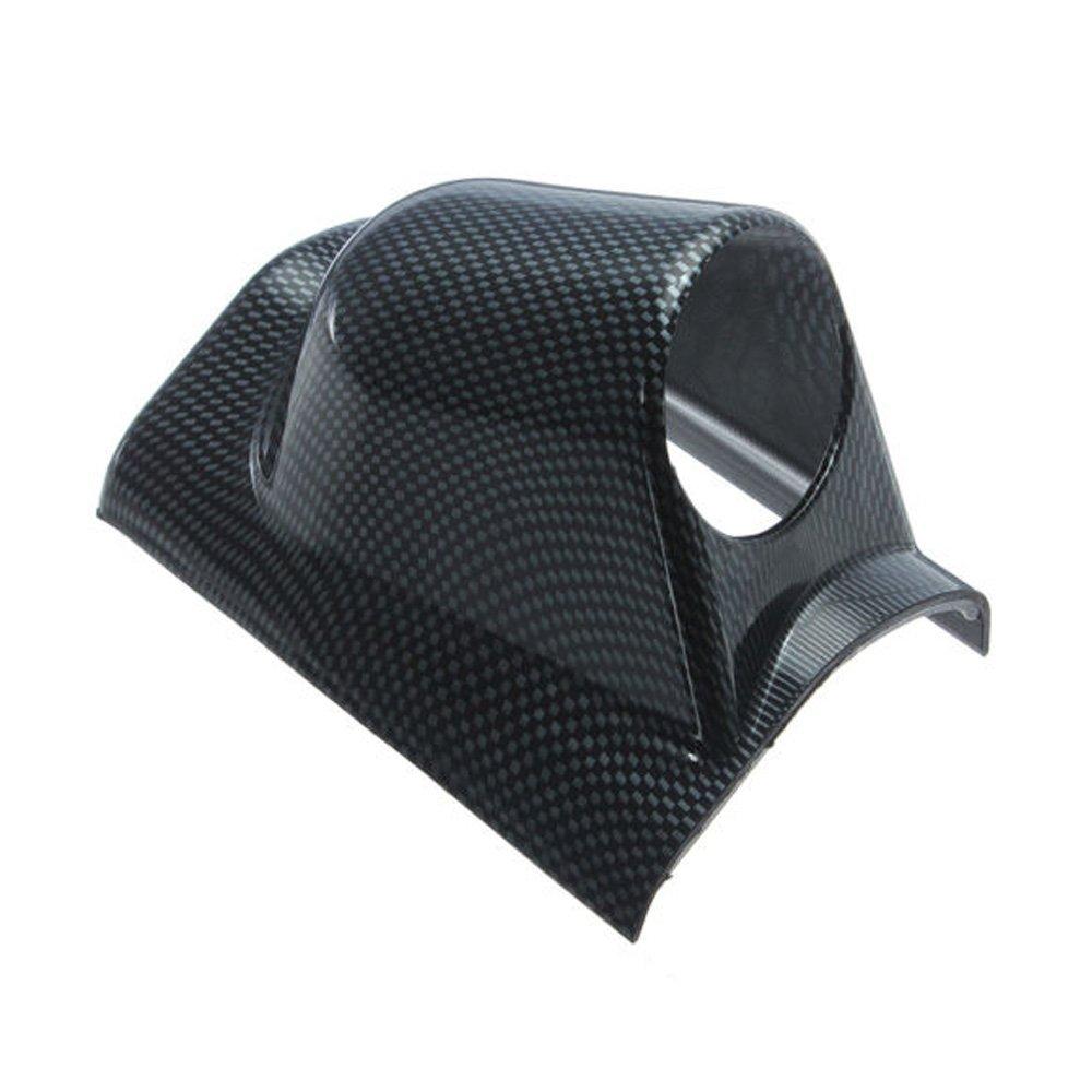 Mintice robusto fibra di carbonio 12V Auto 2' 52mm Universale nero singolo foro portacialde calibro
