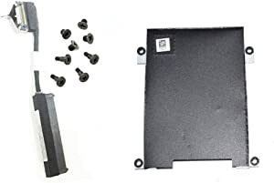 Replacement Hard Drive Cable Connector+HDD Caddy Bracket Compatible with Dell Latitude 5480 E5480 5490 5491 Laptop P/N: 80RK8 0NDT6