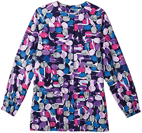 (Bio Women's Jelly Bean Purple Print Warm Up Jacket Xx-Small Print)