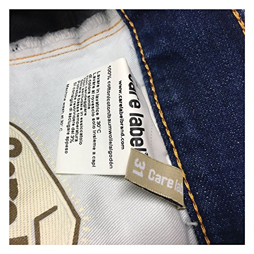 Italy Blue Uomo In 402 Care Made Line 101 Mod Cotone 100 Heritage Jeans Label 7IqEnZEw0O
