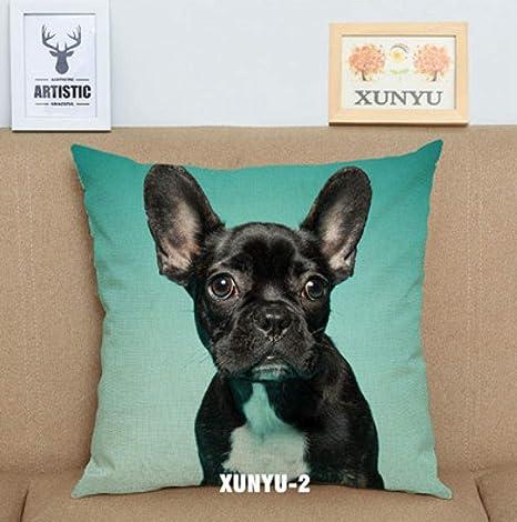 Almohada de sofa Bulldog francés funda de cojín lindo perro ...