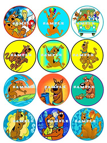 SCOOBY DOO : edible cupcake topper birthday decor frosting party decoration sheet premium sheets -