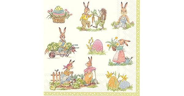 20 X Pascua Peter Rabbit Beatrix Potter Servilletas Papel Fiesta Servilletas De Calidad