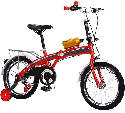 JBHURF Bicicletas Plegables Infantiles para Hombres y ...