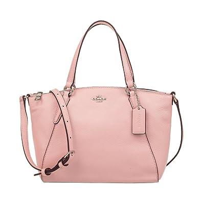 f7dcf162851fd Amazon.com: Coach Pebble Leather Mini Kelsey Satchel Crossbody Handbag,  Blush 2: Shoes