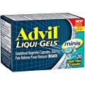 Advil Liqui-Gels Minis Temporary Pain Reliever/Fever Reducer Liquid Filled Capsule, 200mg Ibuprofen, 20 Count