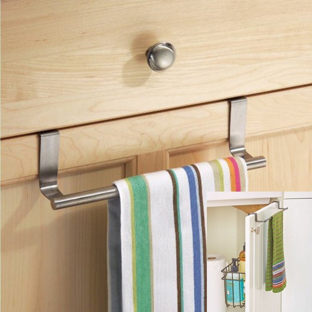 2 x Kitchen Cupboard Over The Cabinet Hand Towel Hanger Hook Storage Solution Wilsons Direct