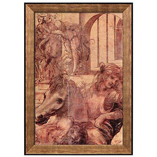 Adoration of the Magi by Leonardo Da Vinci Framed Art