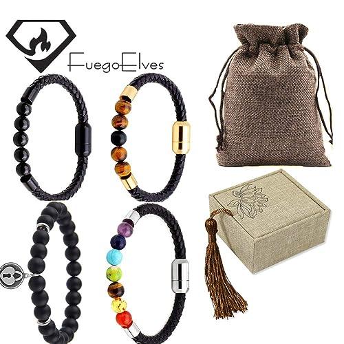 Amazon.com: FUEGOELVES 4 PCS Handmade Seven-Coloured Bead ...