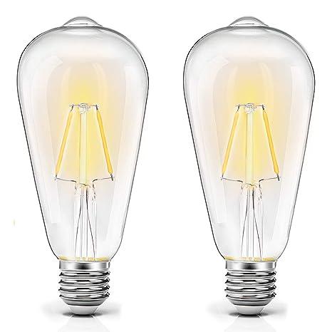 Bombilla LED E27, AVAWAY 2W Vintage Bombilla Edison, Equivalente a 20W Incandescente, Blanco