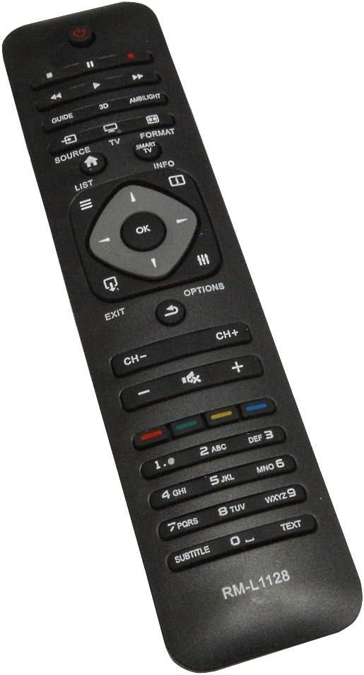 AERZETIX: Mando a Distancia para televisor Compatible con Philips RM-L1128: Amazon.es: Electrónica