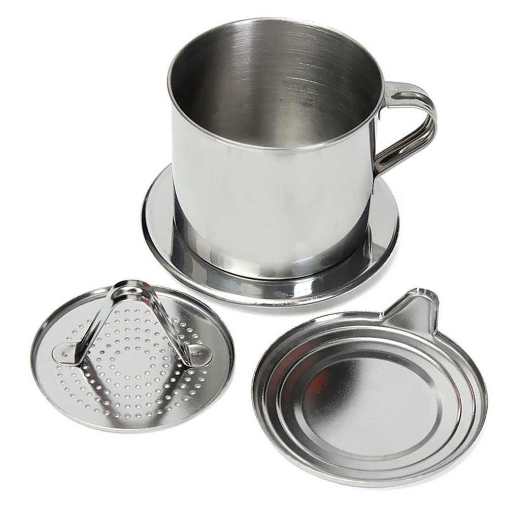 vietnamesische Kaffeefilterpresse, Edelstahl, vietnamesische Kaffeefilter-Set, beste Kaffeefilter für Zuhause/Küche/Büro/Outdoor Hete-supply