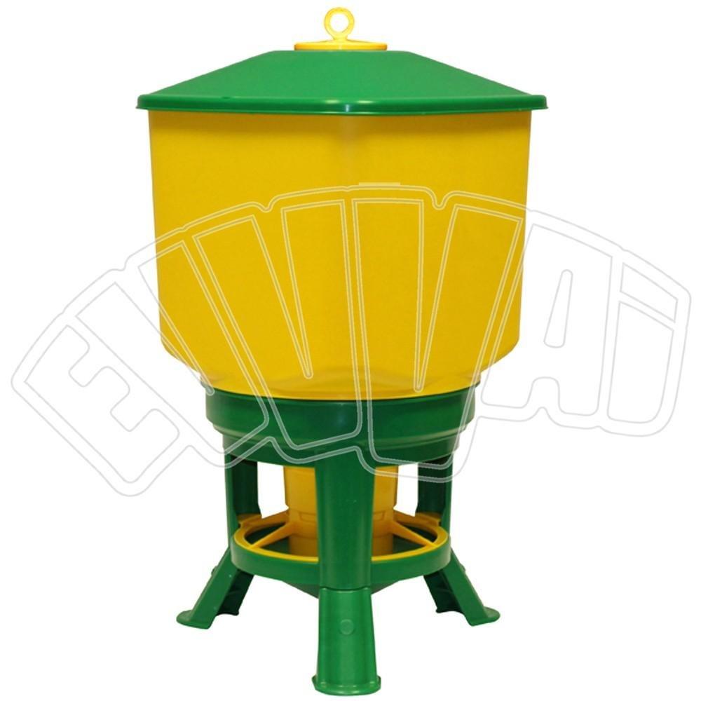 Kubic Premium –  Comedero de plá stico para gallinas, aves, etc - Capacidad: 50 L y/o 34 kg Novital