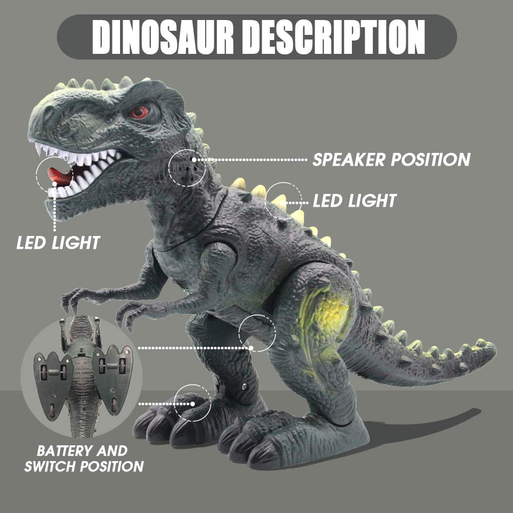 CISAY Dinosaur Toys,D33 Electronic Real Walking Dinosaurs with LED Lights and Dinosaur Sounds by CISAY (Image #6)