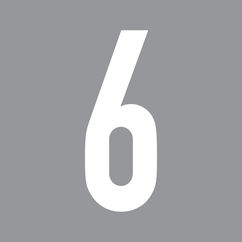 GreenIT 12cm DIN 1451 Wunsch Ziffer Zahl Nummer Hausnummer Aufkleber Tattoo Deko Folie T/ür Fenster Lampe schwarz, 4