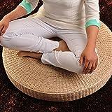 LJ&XJ Handwork Seat cushion, Natural Environmentally Comfortable, Straw plaited Futon, Thick Meditation mat Zen cushion, Tatami Floor Outdoor-A diameter60cm(24inch)