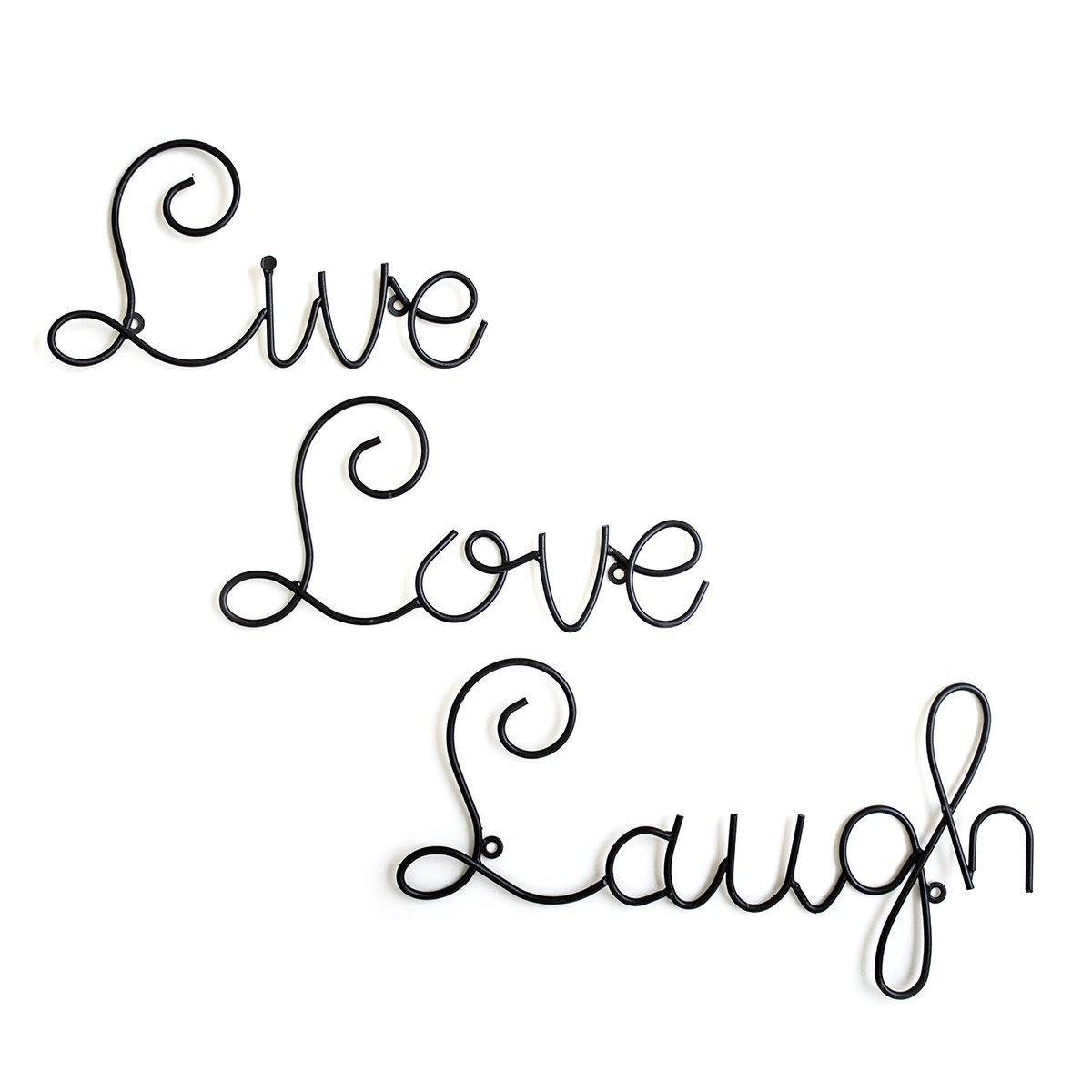 Amazon live love laugh set 3 wall mount metal wall word amazon live love laugh set 3 wall mount metal wall word sculpture wall decor by super z outlet home kitchen amipublicfo Gallery