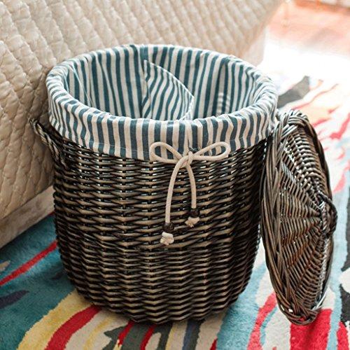 WTL Storage basket paniers couverts paniers en osier paniers de vêtements tissés paniers en osier paniers paniers vêtement ( couleur : D )