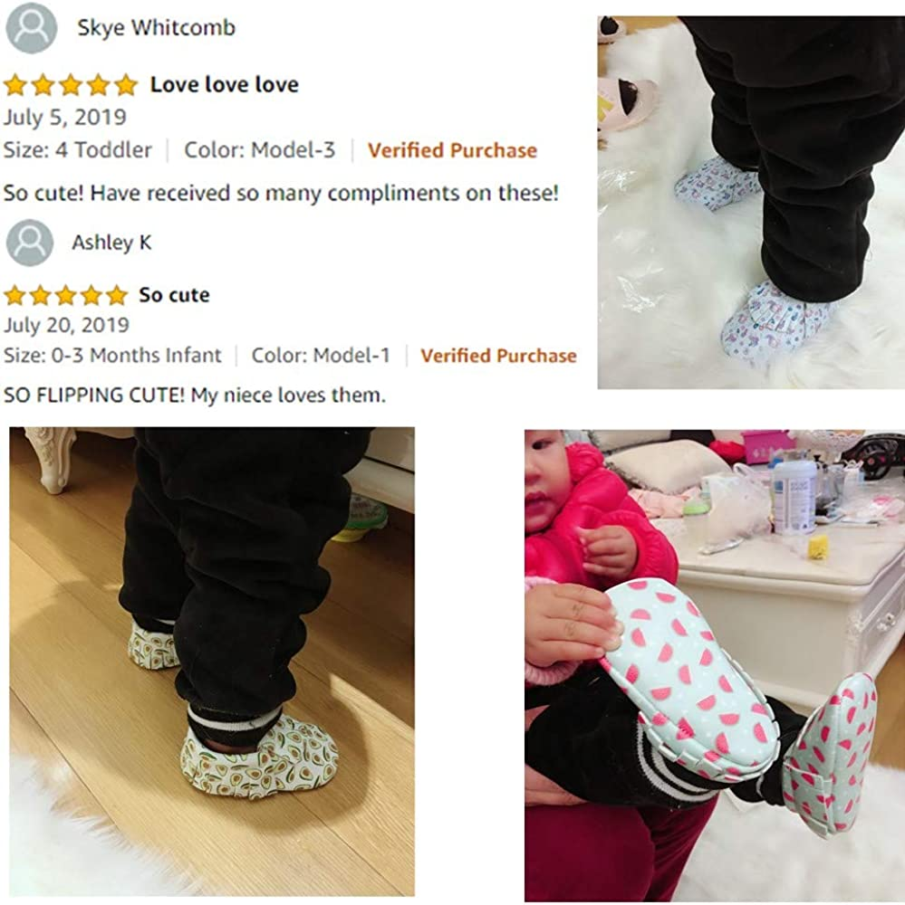 Cartoon Baby Boys Girls Shoes with Soft Sole for First Walkers Toddler Strawberry Bebila Avocado Vegan Baby Moccasins
