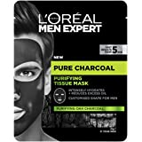 L'Oreal Paris Men Expert L'Oréal Paris Men Expert Pure Charcoal Purifying Tissue Mask, 1 g