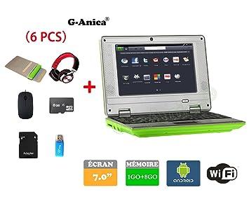 Netbook, ordenador portátil, ultrabook Android 4.2 HDMI (Wifi, Ethernet, 1.5GHz 1Go + 8GO), incluye funda ...