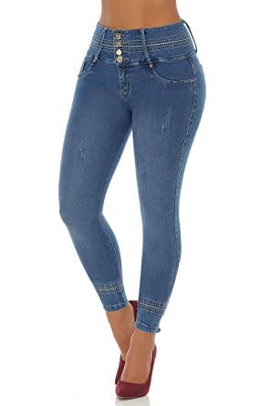 da62967a18 Image Unavailable. Image not available for. Color  VEROX JEANS Pantalones  Colombianos Levanta Cola Colombian Jeans Levantacola 3220