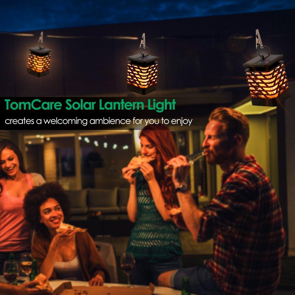 TomCare Solar Lights Solar Lanterns Dancing Flame Outdoor Hanging Lanterns Lights Decoration Lighting Solar Powered Waterproof Umbrella Lanterns Night Light Auto Sensor for Garden Patio Yard (4) by TomCare (Image #7)
