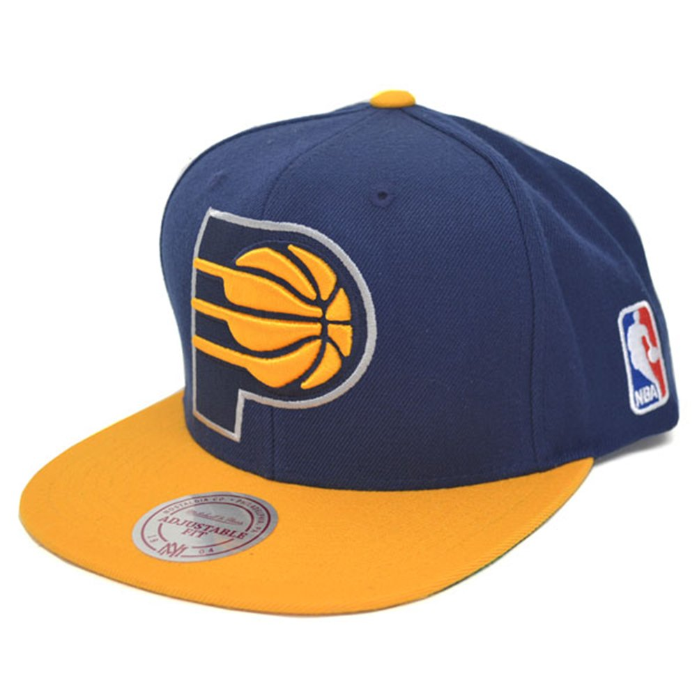 Amazon.com  Mitchell   Ness NBA Indiana Pacers Snapback Hat XLarge Front  Logo Cap  Clothing 3434db86213