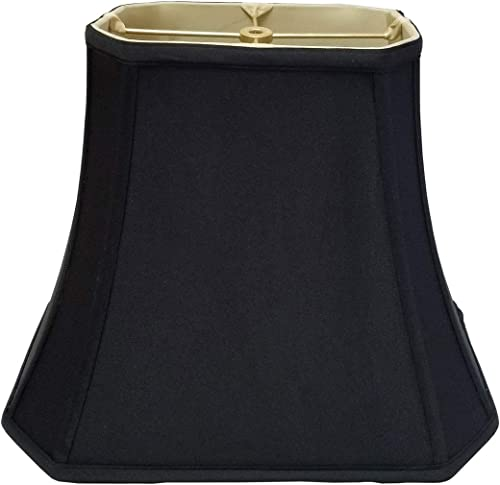 Royal Designs BSO-710-12BLK 5 x 6.5 x 8 x 12 x 10 Rectangle Cut Corner Lamp Shade, Black
