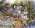 Plaid Creates Paint by Number Kit (16 by 20-Inch), 21676 Victorian Garden