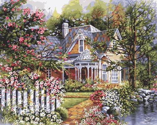 Plaid Creates Paint by Number Kit (16 by 20-Inch), 21676 Victorian Garden by Plaid Creates