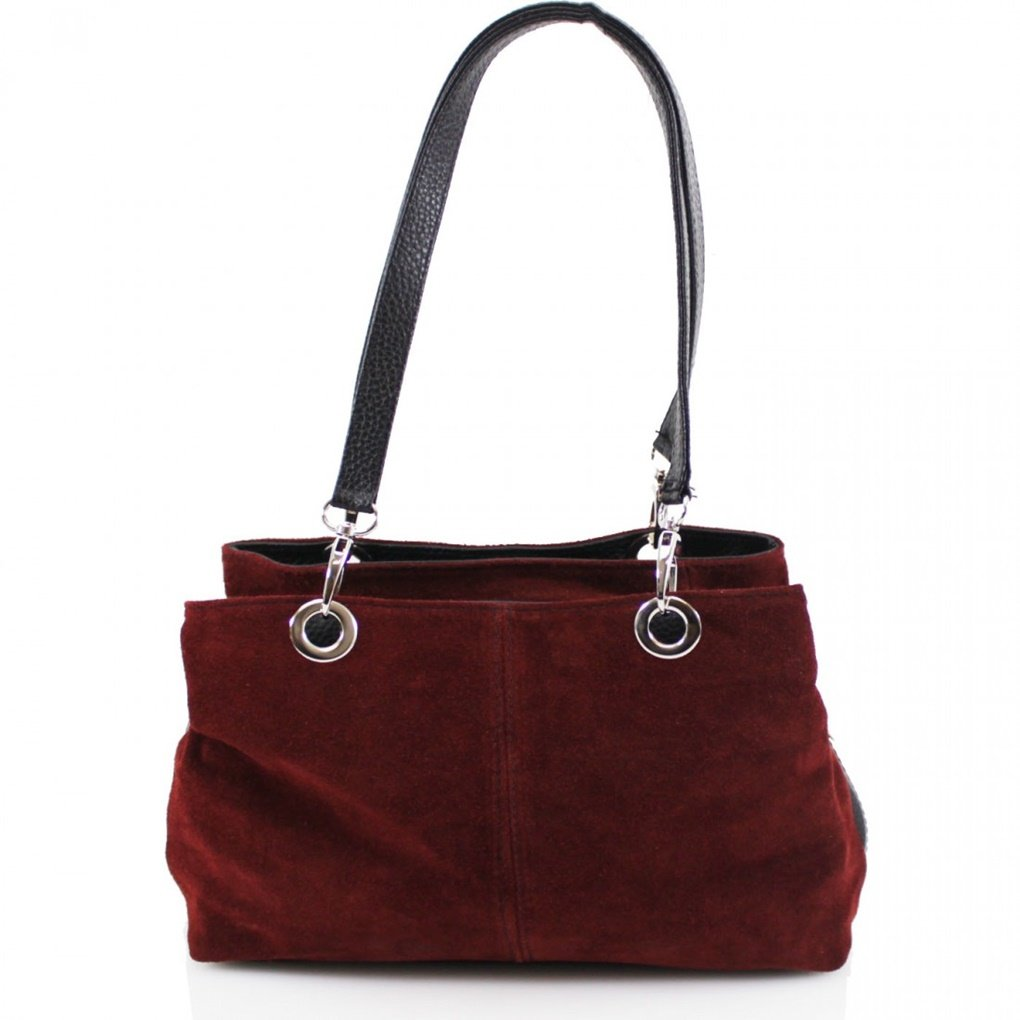 LeahWard Women's Small Size Real Suede Leather Shoulder Bag With Three Zip Pockets For Women Ladies