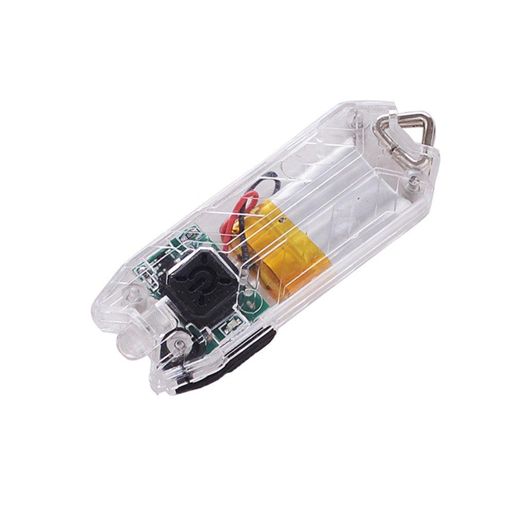 Clode 45LM 2 Modes Mini Lampe de Poche USB LED Lampe Rechargeable chaîne lumière Lampe (BK)