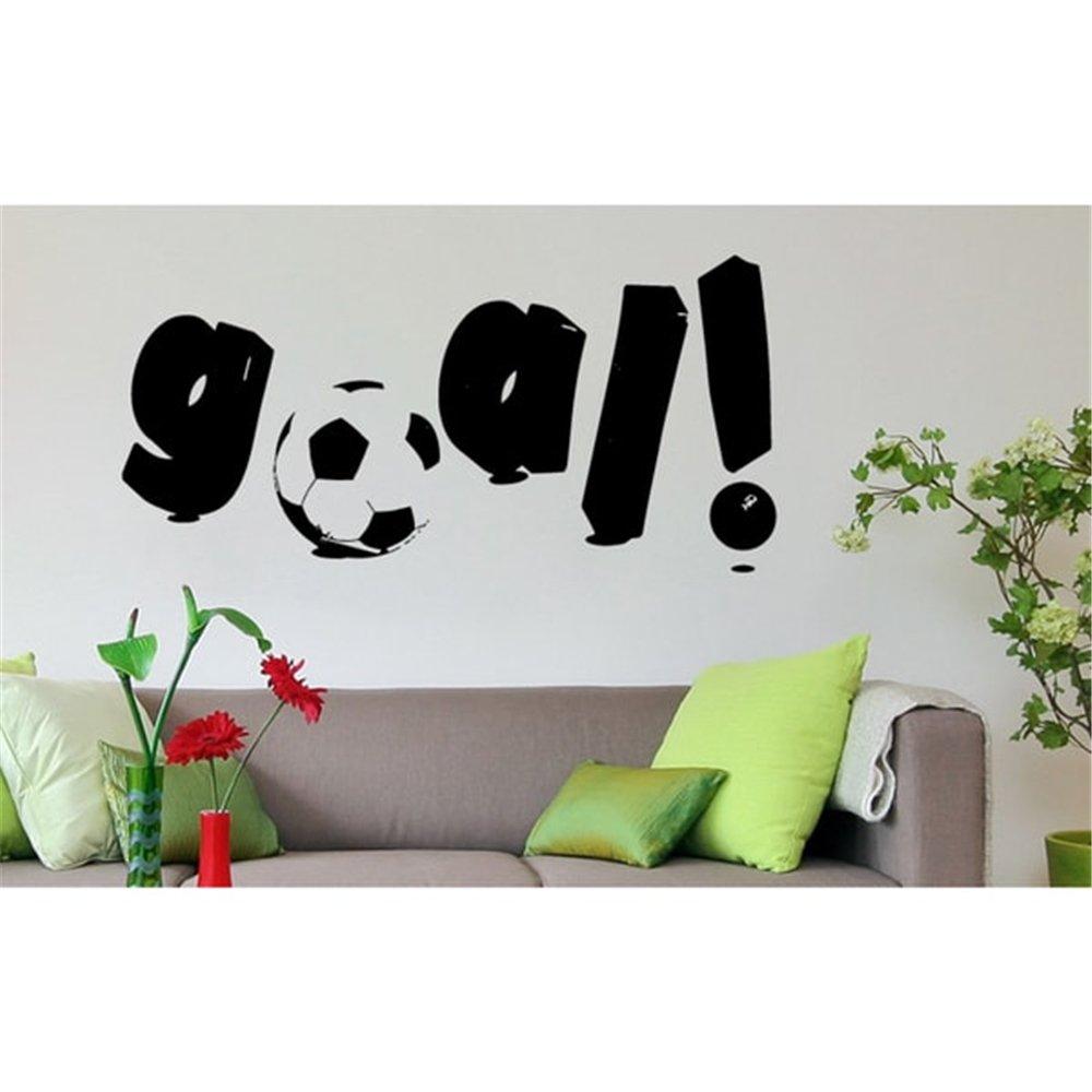 pegatina de pared frases Meta, balon de futbol: Amazon.es ...