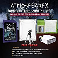 Amosfearfx Bone Chillers Video Ultimate Projector Bundle.Includes Projector, SD Media Card, Translucent Window Screen And Hologram Screen Stand Kit.