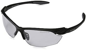 Alpina Twist Four VL+ Lunettes de soleil de sport Noir Fassung: Black-Grey Matt; Gläser: Varioflex Black S1-3 Fogstop taille unique gEfMM7Opy