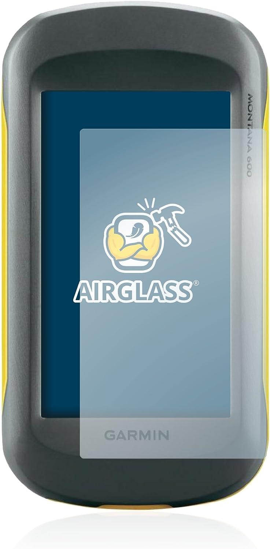 Dureza Extrema AirGlass Anti-Huellas BROTECT Protector Pantalla Cristal Compatible con Garmin Montana 600 Protector Pantalla Vidrio