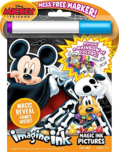 Imagine Ink Halloween Mickey Mouse Book with Mess