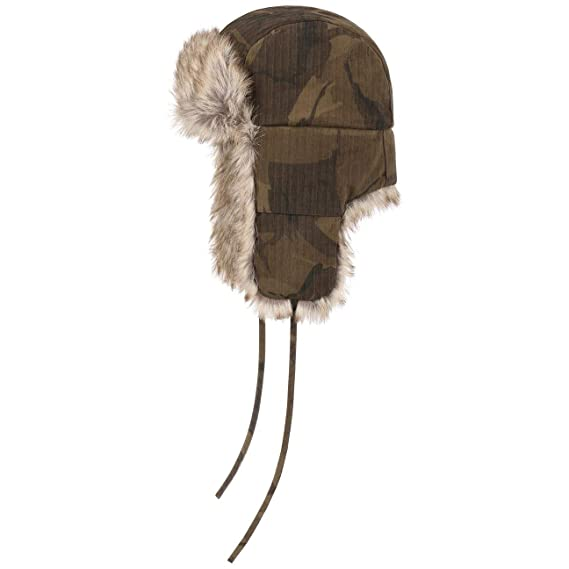 a0566a0f4 Stetson Waxed Cotton Camouflage Aviator Hat Winter Beanie chapka (S (54-55  cm