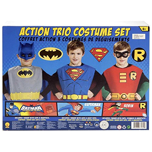 Robin Kids Costumes Kit (Warner Bros. Youth DC Comics Batman, Superman and Robin Child Costume Kit)