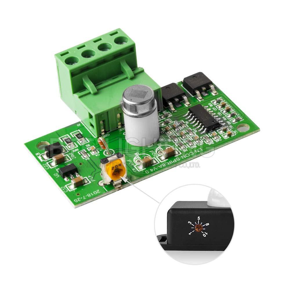 BTF-LIGHTING 12V 24V PIR Sensor de Movimiento LED Interruptor Movimiento Temporizador Funci/ón Control de se/ñal Controlador PIR Tira de iluminaci/ón LED