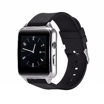 Para hombre reloj Digital de atractivo, remoto de la cámara/número de pasos grabado/Bluetooth Relojes digitales, plata Smart Bluetooth reloj: Amazon.es: ...