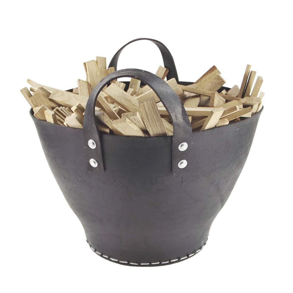 Recycling Fairtrade Set para leña Cesta de Neumáticos - Reciclado Coche neumáticos de Goma - Hecho a Mano - Comercio Justo: Amazon.es: Hogar