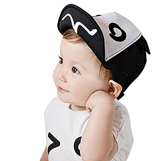df71b324f69be Image Unavailable. Image not available for. Color  Wcysin Summer Mesh Soft  Brim Flanging Sun Hat Baseball Cap for Kids 1-2Years