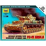 Zvezda Z6151 Panzer IV Ausf D - Tanque militar a escala 1:100