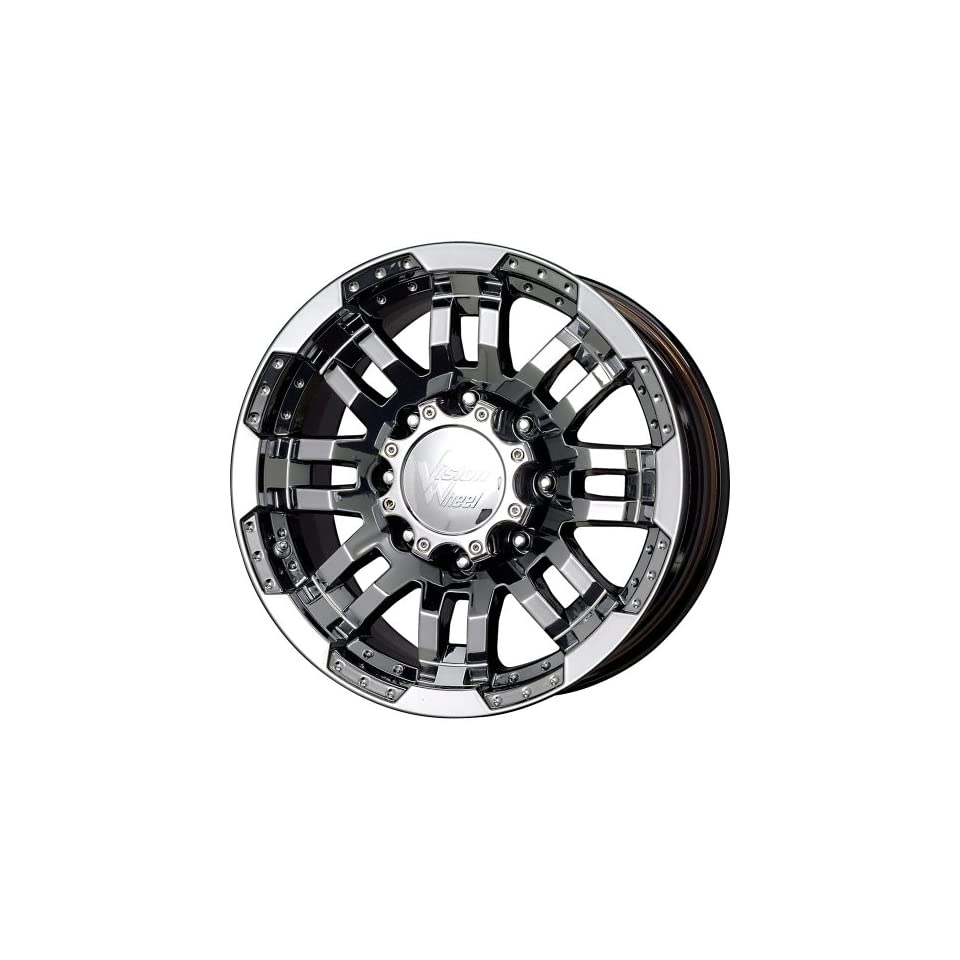 Vision Warrior 18 Black Chrome Wheel / Rim 5x4.5 with a 18mm Offset and a 83 Hub Bore. Partnumber 375H8865PB18