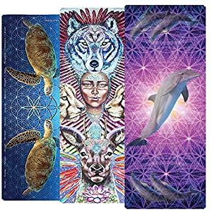 Yoga Totems Power Animal Eco Friendly Yoga Mat Premium 6mm Stunning Visionary Artwork Non Slip Exercise & Fitness Mat…